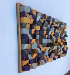 Excited to share the latest addition to my shop: Wooden Wall Art by artist Riccardo Ransarno effect hand cut and painted with acrylic paints unique piece Wooden Wall Art, Wooden Walls, Wood Art, Wall Wood, Modern Wall Sculptures, Block Wall, Wooden Blocks, Painting On Wood, Artist
