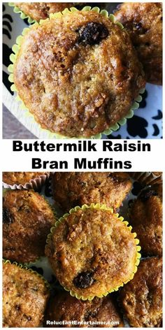 This classic Buttermilk Raisin Bran Muffins recipe (with nuts, chocolate chips, … - Modern Cranberry Muffins, Muffins Blueberry, Rasin Bran Muffins, All Bran Muffins, Bran Muffins With Raisins, Flaxseed Muffins, Zucchini Muffins, Healthy Muffins, Morning Glory Muffins