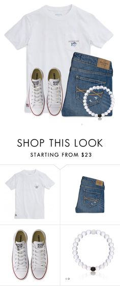 """""""OOTD and I curled my hair... pic in items"""" by flroasburn ❤ liked on Polyvore featuring Southern Tide, Abercrombie & Fitch and Converse"""