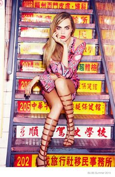 Cara Stars in Bo.Bô Campaign–Back for her third consecutive season as the face of Brazilian brand Bo.Bô's summer 2015 campaign, Cara Delevingne gets inspired by Eastern culture in these images snapped by Ellen von Unwerth. In one image, the now brunette model is shown hailing a cab with her parasol in hand while another has …
