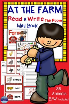 Farm Animals Read and Write the Room includes literacy center activities for preschoolers through grade 1. 36 different visual vocabulary words are perfect for differentiated skill levels! Use ten, use twenty, or use them all. A printable mini farm book and 12 differentiated worksheets make the perfect activities for kids! This is a must have for primary classrooms! #farmanimalactivities #farmanimalwritetheroom #coast2coastteacher #teacherspayteachers