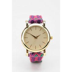 865abb0c909 Friendship Bracelet Watch found on Polyvore Cool Friendship Bracelets
