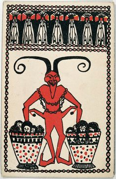 A Viennese Krampus greeting card from 1908.
