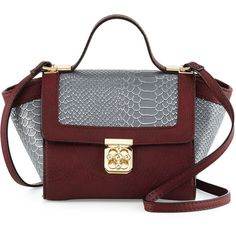 Neiman Marcus Florence Snake-Embossed Mini Crossbody Bag ($60) ❤ liked on Polyvore featuring bags, handbags, shoulder bags, red crossbody purse, red crossbody, mini crossbody, crossbody shoulder bags and red cross body purse