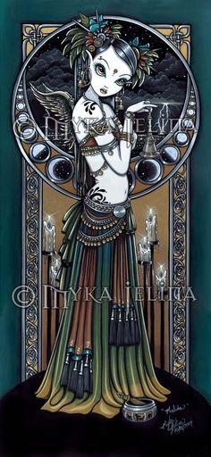 I love Myka Jelina! Melita Gothic Tribal Fusion Storm Angel 13 X 19 inch Art Print by Myka Jelina. via Etsy. Faerie Tattoo, Gothic Drawings, Fairy Pictures, Gothic Fairy, Tribal Belly Dance, Tribal Fusion, Fairy Art, Fantasy Art, Fantasy Dolls