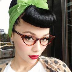 Bumper bangs and cute glasses