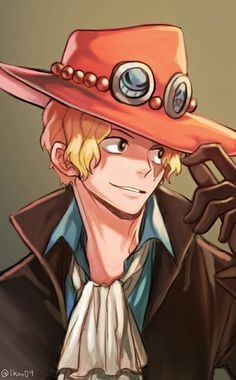One Piece Sabo with Ace's hat  Fanart