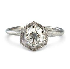 Satomi Kawakita 1ct hexagon ring