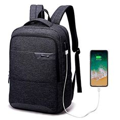Save 50% on AMAZON with code 50XLV9HQ Pinned on 9/27/2018 Laptop Backpack, Travel Waterproof Computer Bag for Women Men, Anti-Theft High School College Bookbag, Business Fashion Backpacks with USB Charging Port Fits Under 17.3inch Laptop&Notebook, Black Electronic Deals, Computer Bags, Notebook Laptop, Laptop Backpack, Business Fashion, Fashion Backpack, High School, Usb, College