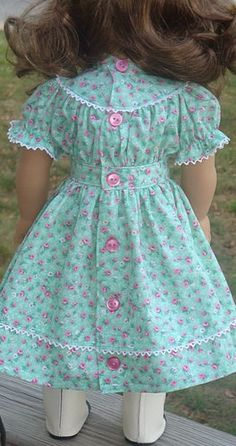 American Girl Pioneer dress for Kirsten doll by Angel Kisses Boutique