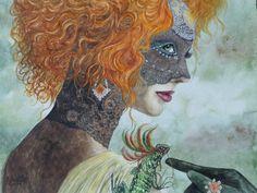 Aquarell: Frau Fantasy - Jutta Bachmann