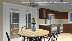 """Small """"Granny Pad"""" style house plan from Carolina Home Plans, SG-1016-AA"""