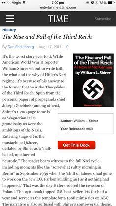 The Third Reich, World War Ii, Writing, History, American, Books, World War Two, Historia, Libros