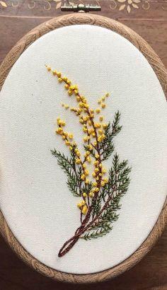 #mimosa #floralembroidery #floral #floralart #embroidery #embroiderypatterns #embroiderydesigns #embroideryart #embroideryhoop #embroideryartist #embroiderylove #modernembroidery #handembroidery #handembroideryideas #handmade #stitch #textileart #design #dmcembroidery #nakış