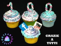 Cupcakes 100 members of YouTube and 100   Like on the Facebook Page
