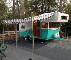 Pete's 1964 Shasta trailer - an Astroflyte - a gorgeous restoration - Retro Renovation retrorenovation.com