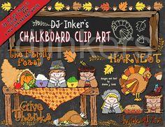 Chalkboard Thanksgiving clip art