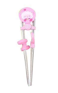 Edelstahl Kindergeschirr Stäbchen (Rosa) - http://besteckkaufen.com/blancho/edelstahl-kindergeschirr-staebchen-rosa