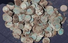 More than 500 silvercoins from 1535 are found on Møn, june 7- 2012, by a person trying out his new metal detector. The Nationalmuseet is escavating the silver treasure that has been berried for 477 years