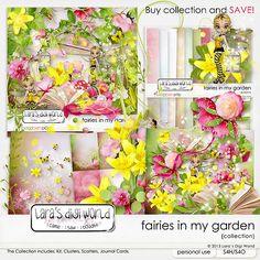 Fairies in my Garden collection by Laras Digi World - $10.49 : Digital Scrapbooking Studio