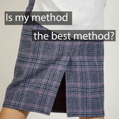 Is this the best method for sewing a back vent in a skirt or dress? I have sewn many vents over the years. Many dressmakers find this process confusing. My 'Sewing the Panel Coat Dress' eBook and video Sew Along includes a comprehensive guide to this technique.