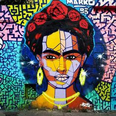 Frida Kahlo, graffiti by streetart streetphotography streetphoto_color Street portrait Street Art/Graffiti wall sreet Art, drawing, creativity 2015 3d Street Art, Murals Street Art, Street Art Utopia, Urban Street Art, Best Street Art, Amazing Street Art, Street Art Graffiti, Street Artists, Urban Art