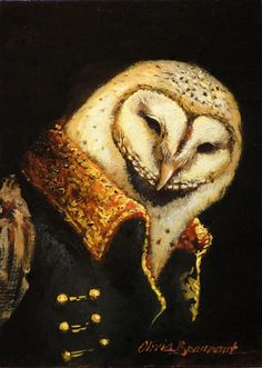 Owl Art Night Sentry  photo print by BeaumontStudio on Etsy