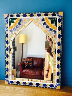 Moroccan Mirror by Sophie Robins Mosaics