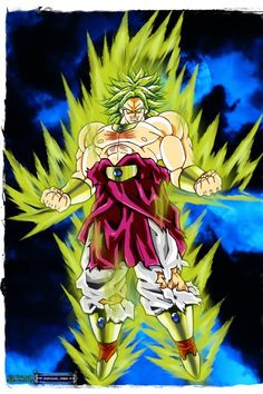 Broly The Lagendary Super Sayien 1 Dragon Ball Gt Saiyan Z Warriors