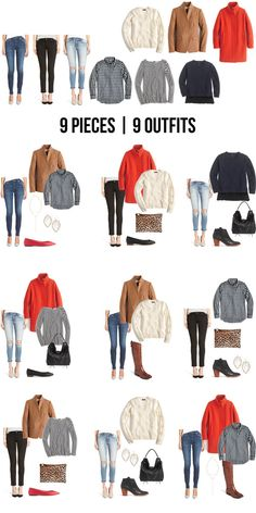 9 pieces | 9 outfits - winter 2016! | The Good Life For Less | Bloglovin'
