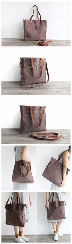 43d9b8f69b01 Handmade Canvas Tote Bag Messenger Bag School Bag Handbag Shoulder Bag 16000
