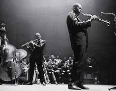 John Coltrane,Eric Dolphy andReggie Workman, Holland, 1961