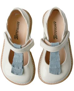 Angulus Verniz Beige-blue Dolly Shoes