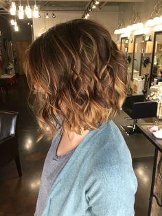 Caramel brunette ombre balayage #hairbylindsaybanks #balayage #bob…