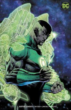 Justice League variant cover - Green Lantern - John Stewart by Jim Lee, inks by Scott Williams, colours by Alex Sinclair * Green Lantern Corps, Green Lanterns, Arte Dc Comics, Batwoman, Batgirl, Comic Books Art, Comic Art, Comic Pics, Book Art