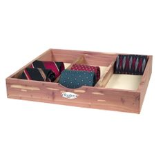 Cedar Tie & Sock Divided Drawer Organizer | Organize.com