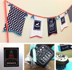 Chalkboard Baby Shower Theme | Chalkboard Art themed Baby Shower includes SVG files to use with E ...