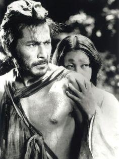 "Toshiro Mifune & Machiko Kyō in Rashomon - 羅生門 - (dir. Akira Kurosawa, - A stunning recreation of Ryūnosuke Akutagawa's ""Rashomon"" and ""In The Grove"" novels. Kurosawa is a master of beautiful photography. Toshiro Mifune, Akira, Love Movie, Movie Stars, Movie Tv, Samurai, Gena Rowlands, Faye Dunaway, Videos"