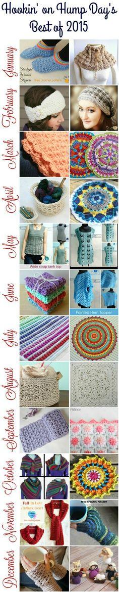 Hookin' On Hump Day's Best Of 2015 - Free Crochet Patterns - (petalstopicots)