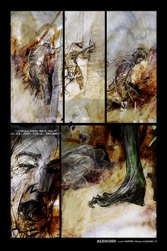 """""""AlieNación"""" (p3) novela gráfica con guión de Federico Sartori y dibujos de Andrés Casciani - 2016 para Alquimia Comics: https://alquimiacomics.wordpress.com/  http://andrescasciani.com/"""