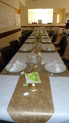 Id e d coration de table noces d 39 or pinterest d corations de table table et d corations - Decoration noce d or ...
