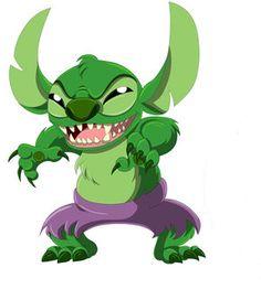 Stitch as Hulk