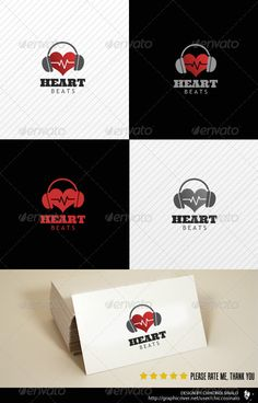 Heart Beats Logo Template  #GraphicRiver         Heart Beats Logo Template is a great logo design best for music industry and many more.it is a fully editable timeline cover in .PSD layers.  Whats in the file?     .PSD Document (Layered) 100% editable    CMYK (Fully adjustable)    Free fonts    Help file  Font(s) used    Check Help file  	 Please don't forget to rate this fil