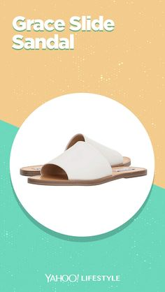 Shop it: $40, zappos.com Simplify your everyday look with the trend-right Steve Madden Grace Slide Sandal! Available in a variety of upper materials. Slip-on design. Open toe. #sandals #slides #opentoe #shoes #springshoes #summershoes
