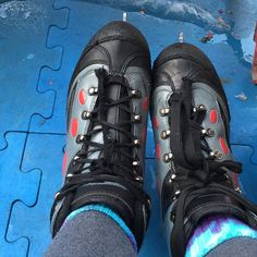Went ice skating yesterday! I don't skate often enough or well enough to justify purchasing my own skates but if I go again I'm going to! These were bulky like hockey skates but had figure skate blades. It was an adventure for sure and a beautiful day to be outside! by dontforget.toeat