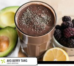 The combination of low glycemic berries, avocado and chia seeds make this smoothie not only incredibly nutrient rich, but super sustaining throughout the morning. It contains much less fruit than many other smoothies, optimizing all the green goodness, and the lemon juice assists with an extra uptake of nutrients. INGREDIENTS 1 cup fresh spinach ¾ cup coconut water ½ cup blackberries* ¼ avocado, frozen 2 tablespoons lime juice 2 tablespoons chia seeds