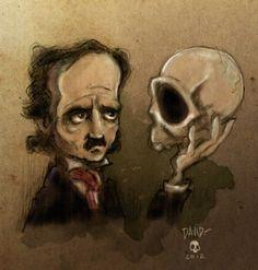 Edgar Allan Poe - Bocetos de David Garcia para iPoe