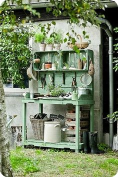 Cool place to store gardening equipment. Could even use it as a rooting station.