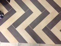 #TileTuesday Showroom Panel 31  #tilesensations Herringbone Tile, Modern Spaces, Pinterest Board, Tile Design, Showroom, Animal Print Rug, Bathroom Ideas, Tile Floor, Chevron