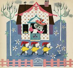 I recently discovered artist Mary Blair while digging around at the library. Little did I know she was like the first lady of Disney! Wonderful art from the 50s and 60s. Love it!